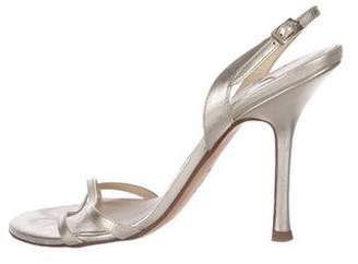Jimmy Choo Patent Leather Strapped Sandals