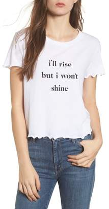 Wildfox Couture Rise & Shine Frilled Tee