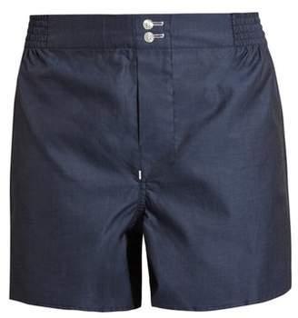 Hamilton And Hare - Cotton Boxer Shorts - Mens - Blue