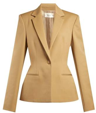The Row Francene Single Breasted Stretch Wool Blazer - Womens - Tan