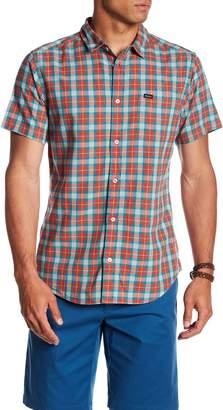 RVCA That'll Do Plaid Short Sleeve Slim Fit Shirt