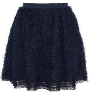RED Valentino Ruffled Tulle Mini Skirt