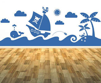 Mural Spin Collective Sea Scene Wall Sticker