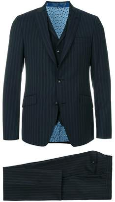 Etro striped three piece formal suit