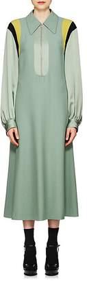 Dries Van Noten Women's Crepe & Satin Shirtdress