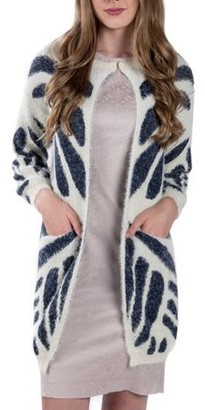 Aerusi Women's Tundra Tiger Knit Cardigan