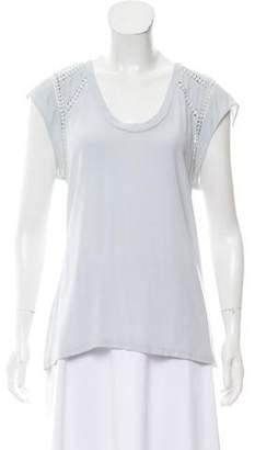 Rebecca Minkoff Short Sleeve Scoop Neck Top