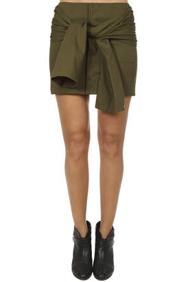 Warehouse Harvey Faircloth Tie Sleeve Mini Skirt