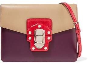 Dolce & Gabbana Lucia Color-block Ayers And Leather Shoulder Bag