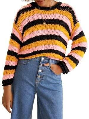MANGO Jersey Chicle Oversized Sweater