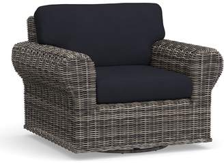 Pottery Barn Roll Arm Swivel Occasional Chair Cushion Slipcover