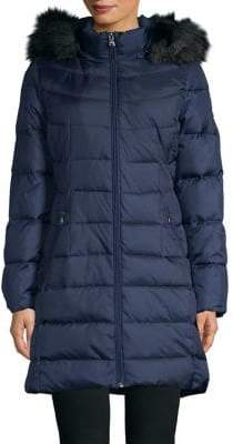 Calvin Klein Faux-Fur Trim Down-Fill Parka Jacket