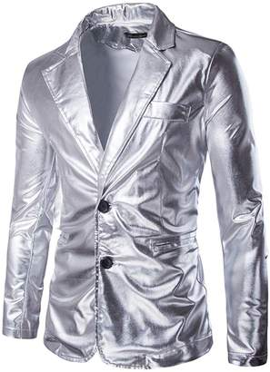 jeansian Men's Fashion Bronzing Jacket Blazer Suit Costumes 9514 L