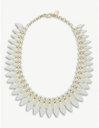 Kendra Scott Lazarus 14ct gold-plated and acrylic necklace