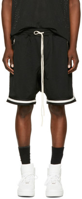 Fear of God Black Dropped Mesh Lounge Shorts $695 thestylecure.com