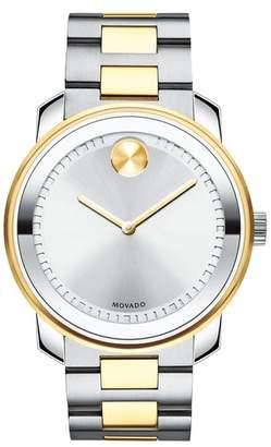 Movado Two Tone Bracelet Watch, 43mm