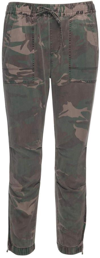 Pam & Gela Camo Cargo Zipper Pants