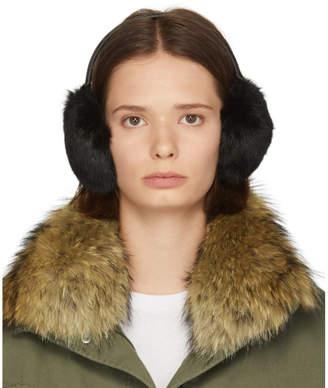 Yves Salomon Black Rabbit Earwarmers