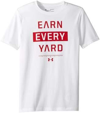 Under Armour Kids Earn Every Yard Short Sleeve Tee Boy's T Shirt