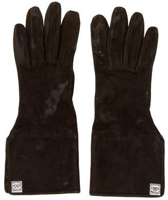 Chanel Chanel Suede CC Gloves