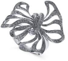 Effy 14K White Gold & Diamond Bow Ring