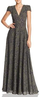 Fame & Partners Rumi Floral Georgette Gown - 100% Exclusive