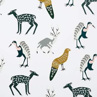 west elm Woodland Animals Wallpaper Swatch