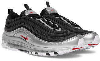 Nike Air Max 97 Qs Faux Leather And Mesh Sneakers - Black