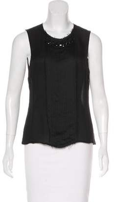 J. Mendel Sleeveless Embellished Top