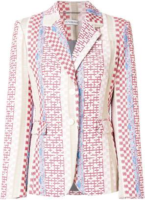 Altuzarra geometric printed notch collar blazer