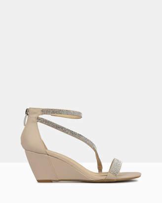 betts Heirloom Diamante Wedge Heel Sandals