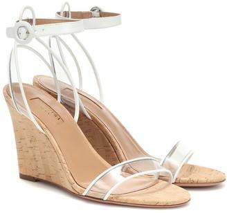 Aquazzura Minimalist 85 wedge sandals