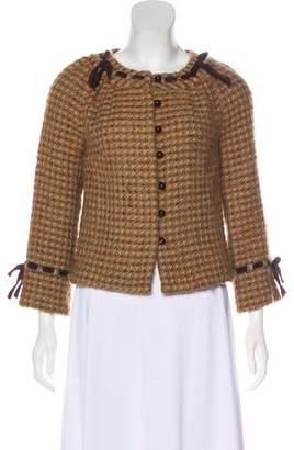 Tibi Long Sleeve Wool-Blend Jacket
