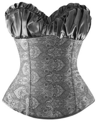 Zhitunemi Women's Wedding Burlesque Corset Bustier Bridal Lingerie Bodyshaper Top 4X-Large