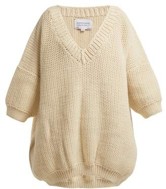I Love Mr Mittens - Jacqueline V Neck Short Sleeve Sweater - Womens - Ivory