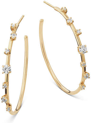 Lana 14k Solo Diamond Hoop Earrings