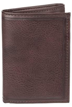 Goodfellow & Co Men's Trifold Heat Crease & Stitch Wallet - Goodfellow & CoTM Brown One Size