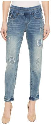 Tribal 25 Stretch Denim Pull-On Boyfriend Pants in Vintage Women's Jeans