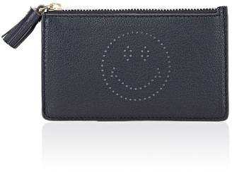 Anya Hindmarch Women's Smiley Leather Zip Card Case