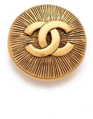 WGACA Vintage Chanel CC Burst Pin
