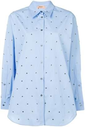 No.21 embellished long-sleeve shirt