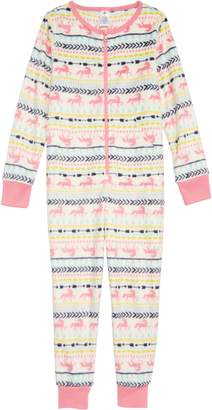 Tucker + Tate Cozy Print Fitted One-Piece Pajamas