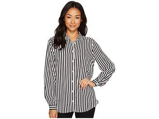 FDJ French Dressing Jeans Stripe Long Sleeve Blouse Women's Blouse
