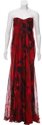 Alexander McQueen Silk Evening Gown