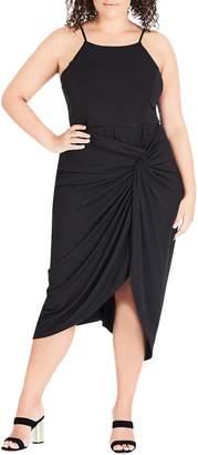City Chic Athena Drape Dress