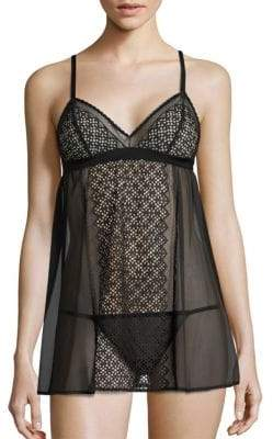 DKNY Sheer Lace Chemise and Thong Set