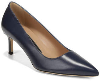 Via Spiga Nikole Leather Mid-Heel Pumps