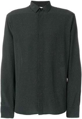 Saint Laurent fine polka dot shirt