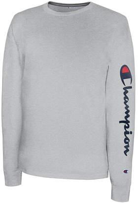 Champion Men Long-Sleeve Logo T-Shirt