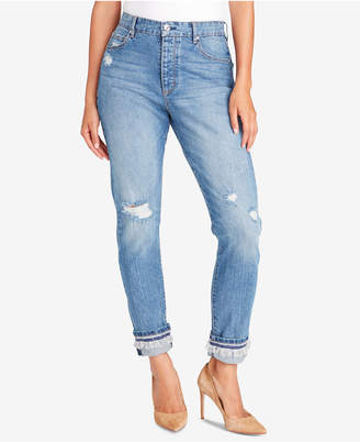 Vintage America Petite Ripped Cuffed Jeans